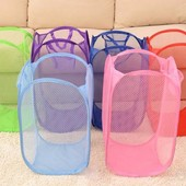 Складная корзина-сетка с ручками для  игрушек или белья