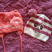 Шапули для малышки 1-2годика