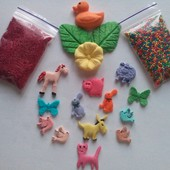 Большой набор веселые зверята для украшения пасхальных куличей ( пасочек)
