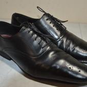 Мужские кожаные туфли  Topman (India)  45 р.стелька 31 см.