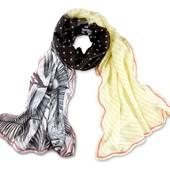 Шикарная трехцветная шаль от ТСМ Tchibo Чибо размер 80*200