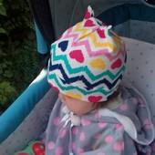 Детская шапочка! Хлопок, трикотаж! Новые расцветки!