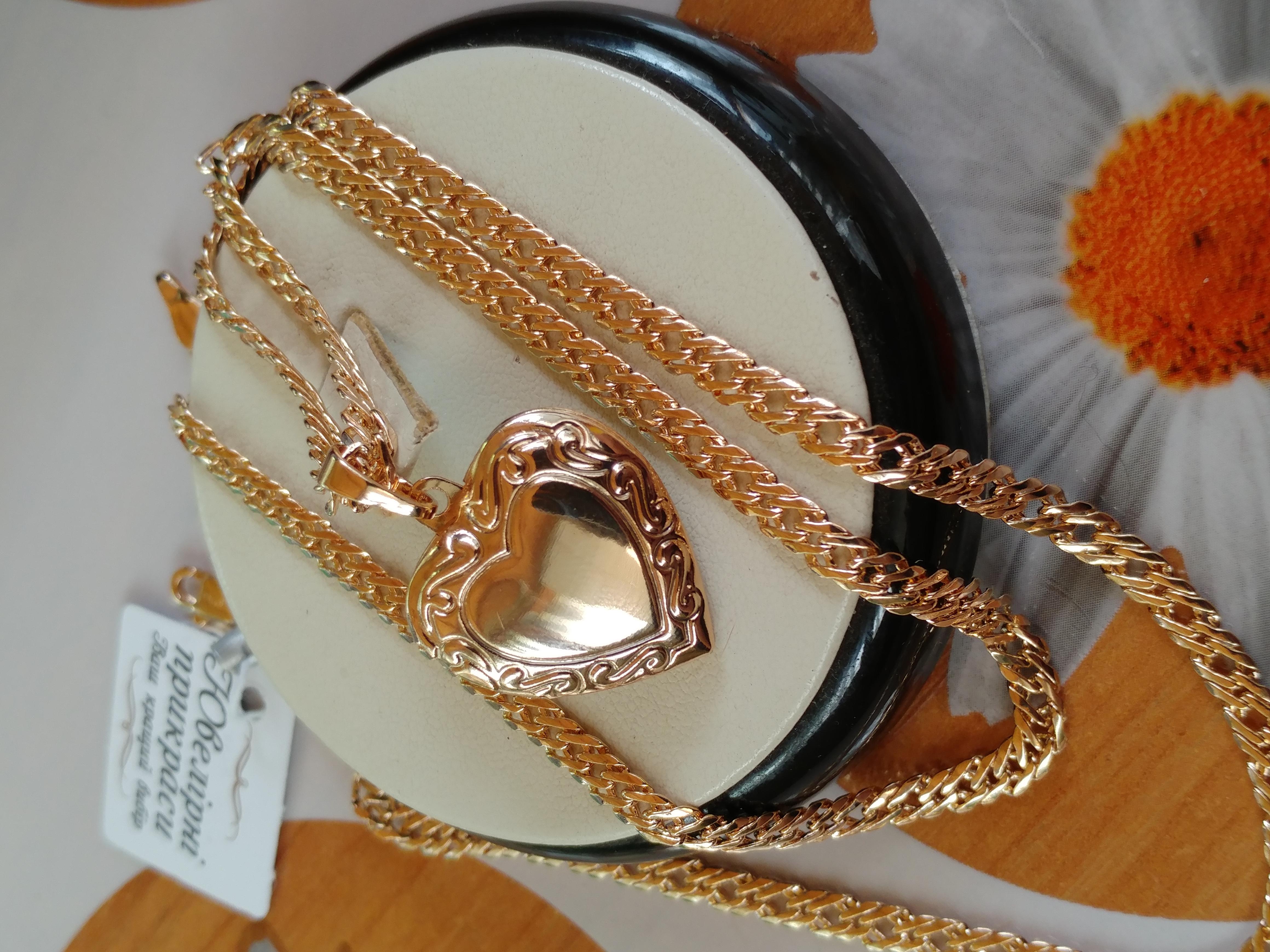 только один остался, не пропустите! открывающийся медальон-сердце с гравировкой, позолота 585 пробы