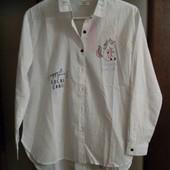 На супер модницу!крутейшая рубашка от Рерсо! на рост 152, 12-14 лет! 100% хлопок!