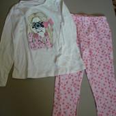 Супер лот-Lupilu реглан девочке 110-116 см + штаны и 2 трусиков на 98-104 см