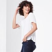 Стильная комбинированная блуза-футболка 48-50р евро Tcm Tchibo Германия смотрите замеры