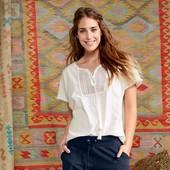 ☘ Футболка-блуза из органического хлопка от Tchibo(Германия), размеры наши: 50-52 (44/46 евро)