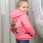 Шикарная куртка с рюкзаком лол 116см