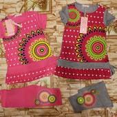 Яркий, модный комплект для девочек 110/116, 116/122 р с Загран. сайта.