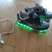 Кроссовки кросівки з led-підсвіткою 37р(23 см стелька). Чит.оголошення
