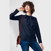 Воздушная шелковая блуза с лентами 46р евро Tcm Tchibo Германия смотрите замеры