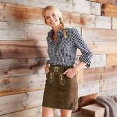 Эффектная, дорогая кожаная юбка с вышивкой от TcmTchibo, Германия! раз.евро 36; наш 42
