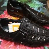 Кожаные! Полностью натуральные туфли для подростков. 35р