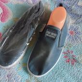 Слипоны мужские джинс, 45р, стелька 29 см