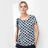 Стильная блузка в горох от ТСм Чибо Германия , размер 44 евро=50-52