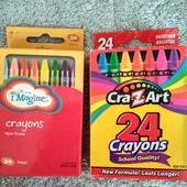 Яркие восковые карандаши, лот 2 упаковки как на фото  (48 шт.)