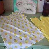 Солнечный набор футболка  lupilu и лосины, 110-116
