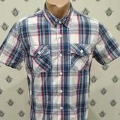 Рубашка с коротким рукавом Colin's. Размер М,L. 100% хлопок