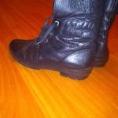 Кожаные ботинки днепропетровские 41 размер,стелька 26,5