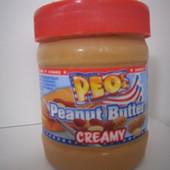 Германия!Оригинал!Вкуснейшее  арахисовое масло большая банка 340 грамм!Хватает надолго!