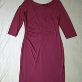 Шикарное платье Vera mont✓Германия✓Сток без бирки✓Цвет марсала✓Не пожалеете✓