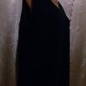 Классическая приталенная стрейчевая трикотажная жилетка , большой размер, пог 56.