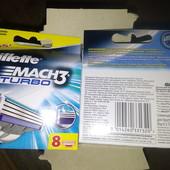 Качественные сменные лезвия Жилет мак 3 турбо (Gillette Mach3 turbo),4 шт в лоте с упаковки