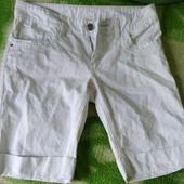 Белые котоновые шорты