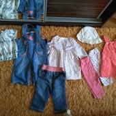 Лот одежды для девочки на 6-9 месяцев.