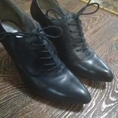 Кожаные демисезонные туфли Ecco на шнурочках