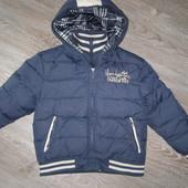Стильная курточка на пуху зима мальчику TDM 966 by 02 Tandem  5 лет . Италия