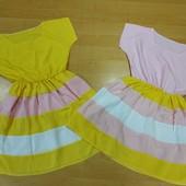 Шикарные легенькие платья для девочки! Смотрите замеры! В лоте розовый!