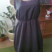 Черное шифоновое платье Терранова размер L