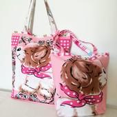 Комплект милых сумочек для мамы и дочки!