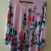Блуза нежной расцветки р 50-52