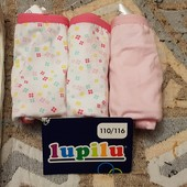 Трусики для девочки lupilu 3 шт, размер 110/116
