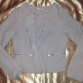 Курточка бомбовая, легкая. Цвет пудра,пог 49
