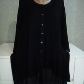 Очень красивая шифоновая блузочка-туника, ткань жатка свободный крой. Пог 60-65 см.