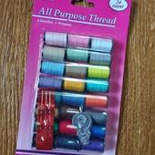 Набір кольорових ниток для шиття!!