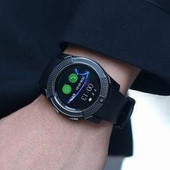 Сенсорные Smart Watch V8 смарт часы умные часы Чёрные круглые