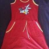 Яркое летнее трикотажное платье