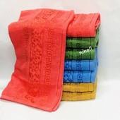 Махровое полотенце, лицевое размер 100×50 см. Отличное качество.  Турция.