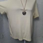 Мягенькая нежная комфотная футболочка 100%котон р.22(54-56-58) пог 55 тянется