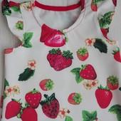 Платье в клубничках для модниц !!!