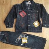 Качественный джинсовый костюм!!! Р.140