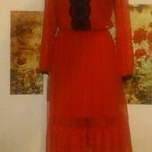 Красивое гипюровое платье рр 48-52