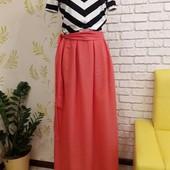 Платье летнее комбинированное макси 44-50