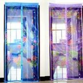 Маскитная сетка для дверей на магнитах разных расцветок их размер 210×100
