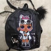 Рюкзак детский с пайетками и мигалками