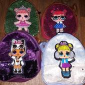 Рюкзачки с Лолами для девочек, с подсветкой, цвет на выбор, рисунок не выбираем